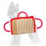 German Shepherd Bite Pad with Jute Cover
