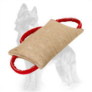 Jute German Shepherd Bite Pillow / Bite Pad with 3 Handles