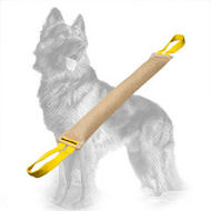 Jute German Shepherd Bite Tug with 2 Handles for Training Young Dogs