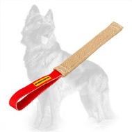Jute German Shepherd Pocket Toy / Puppy Bite Tug with Handle