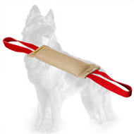 Jute German Shepherd Bite Tug with Two Handles
