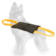 Training Leather German Shepherd Bite Tug with Two Handles