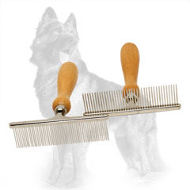 German Shepherd Metal Brush for Grooming Short Dog Coat