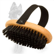 Wooden German Shepherd Brush with Bristle