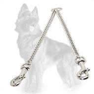 Herm Sprenger Chain Coupler Chrome Plated for Walking 2 German Shepherds