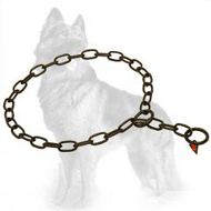 Herm Sprenger Fur Saver Choke Collar of Black Stainless Steel for German Shepherd