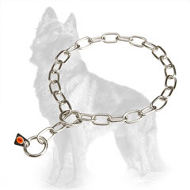 Herm Sprenger Fur Saver Choke Collar of Stainless Steel for German Shepherd