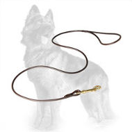 Round Leather German Shepherd Leash 6 mm Wide