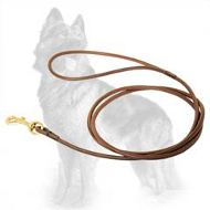 Round Leather German Shepherd Leash for Dog Shows
