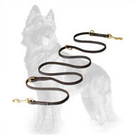 Multifunctional German Shepherd Leash Made of Soft English Leather
