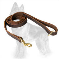 Stitched Leather German Shepherd Leash 6 ft