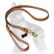 Upgraded English Leather German Shepherd Leash with Braids