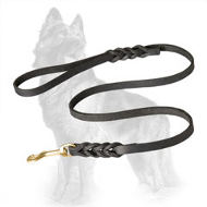 Handcrafted Leather German Shepherd Leash for Walking and Training