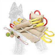 Special Offer German Shepherd Training Set of 6 Jute Bite Tugs and 3 Gift-Products
