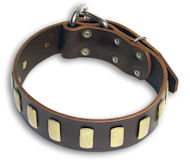 Leather Brown collar 27'' for GSD Dog /27 inch dog collar-S33p
