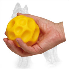 German Shepherd Chewing Ball Moon-Like of Medium Size for Playing