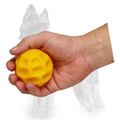 German Shepherd Chewing Ball Moon-Like of Small Size for Playing