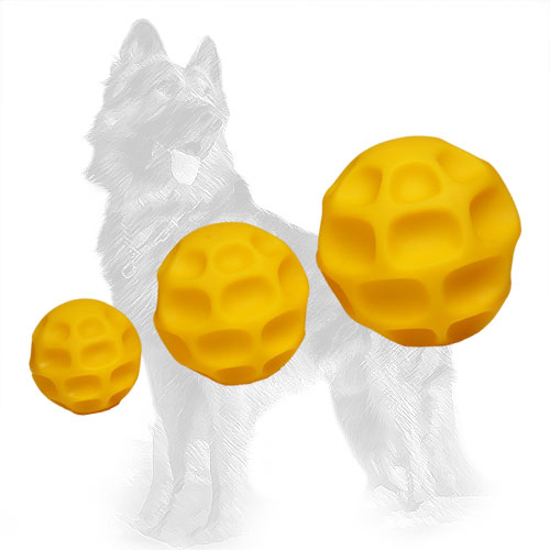 Three Chewing Toys German-Shepherd Balls with Treats inside