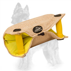 German Shepherd Bite Builder Jute with Two Padded Hard Handles