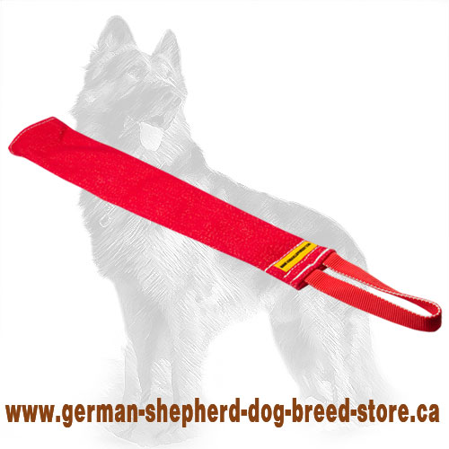 Training French Linen German Shepherd Bite Rag with Handle