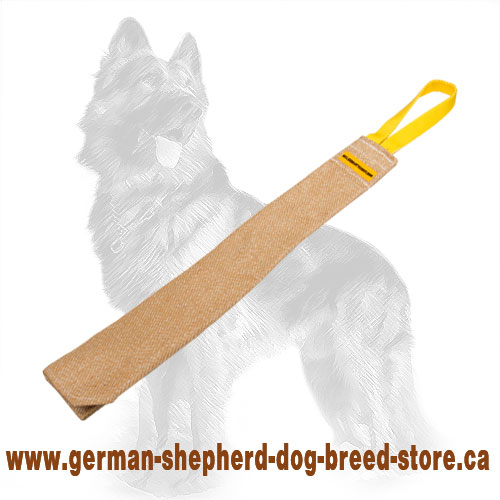 Training Jute German Shepherd Bite Rag with Handle