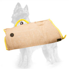 Jute German Shepherd Puppy Bite Sleeve with Strong Handle