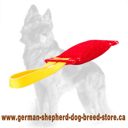 French Linen German Shepherd Bite Tug with Handle
