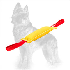 French Linen German Shepherd Bite Tug with Two Functional Handles