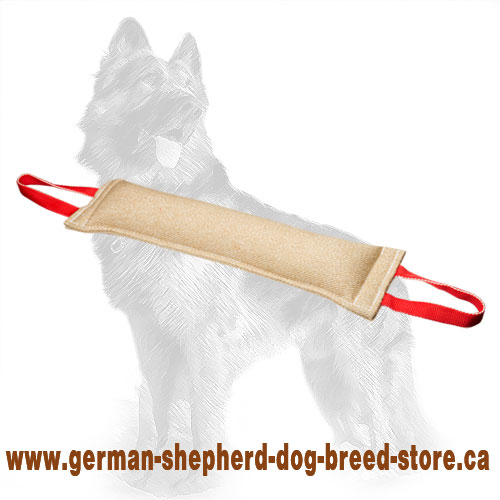 Large Jute German Shepherd Bite Tug with Two Handles