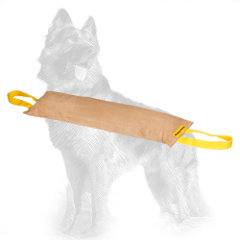 Large Leather German-Shepherd Bite Tug with 2 Handles