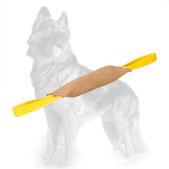 Leather German Shepherd Bite Tug Equipped with 2 Handles