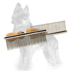 German-Shepherd Brush Metal with Chrome Plated Combs