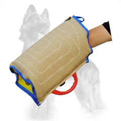 Stitched Jute German Shepherd Puppy Bite Sleeve with Handle