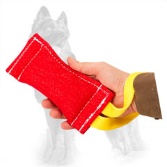 French Linen  German Shepherd Puppy Bite Tug for Training and Playing