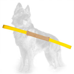 Small Leather German-Shepherd Puppy Bite Tug Equipped with 2 Handles