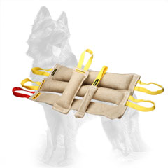 Stitched Jute German Shepherd Training Set of Bite Tugs with Handles