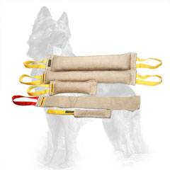 Training Jute German Shepherd Set of Five Bite Tugs