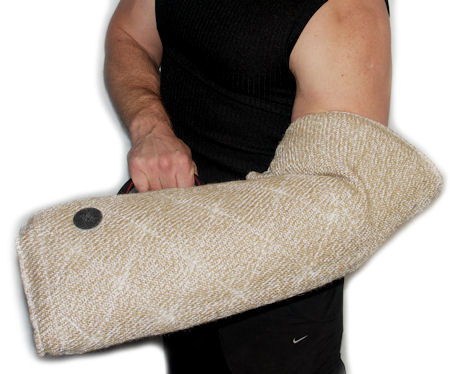 jute puppy soft sleeve - bite protection sleeve for puppy training