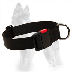 Reliable Nylon German Shepherd Dog Collar Suitable For  Any Weather Conditions