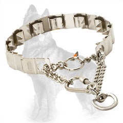 Martingale Neck Tech German Shepherd Collar of Stainless Steel