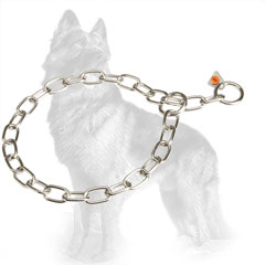 German-Shepherd Fur Saver Choke Collar of Stainless Steel