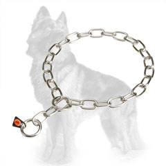 German-Shepherd Fur Saver Stainless Steel with 2 Rings and Herm Sprenger Label