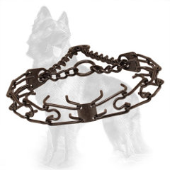 German-Shepherd Pinch Collar Made of Black Stainless Steel