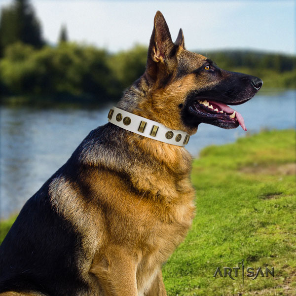 German Shepherd top quality collar with stylish embellishments for your doggie