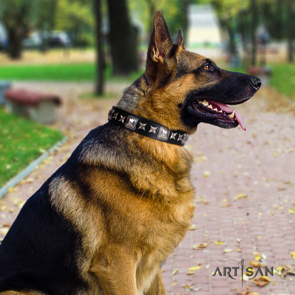 German-Shepherd easy to adjust collar with incredible embellishments for your dog
