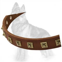 Classic Leather Collar For German-Shepherd