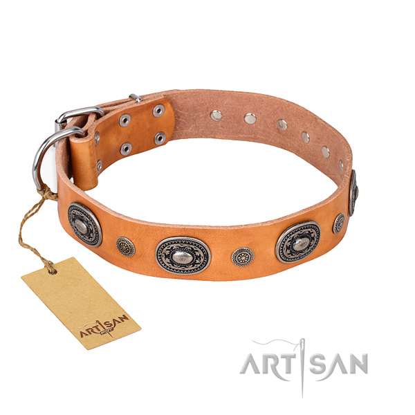 Soft full grain natural leather collar created for your dog