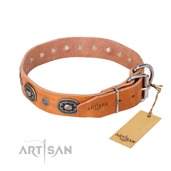 Best quality leather dog collar handmade for daily use