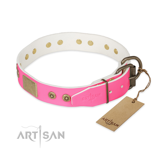 Strong adornments on daily use dog collar