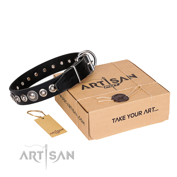 Best quality leather dog collar